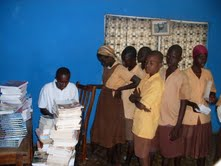 Kids collecting school books