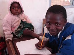 A child who needs to look after his sister getting an education